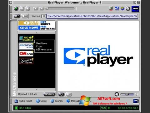 स्क्रीनशॉट RealPlayer Windows 7