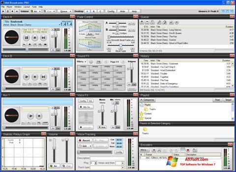 स्क्रीनशॉट SAM Broadcaster Windows 7