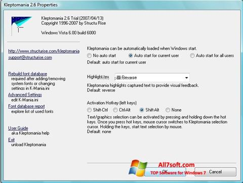 स्क्रीनशॉट Kleptomania Windows 7