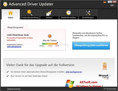 स्क्रीनशॉट Advanced Driver Updater Windows 7