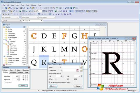 स्क्रीनशॉट Font Creator Windows 7