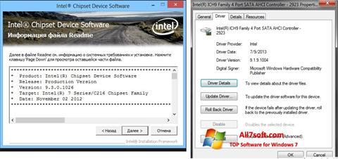 स्क्रीनशॉट Intel Chipset Windows 7