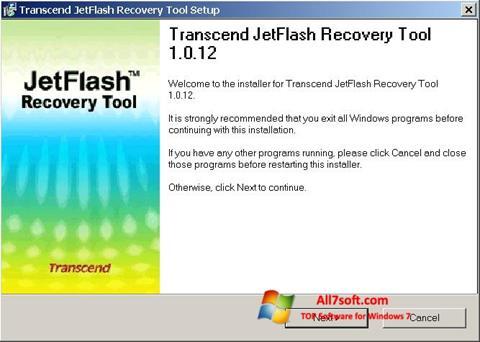 स्क्रीनशॉट JetFlash Recovery Tool Windows 7