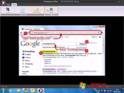 स्क्रीनशॉट Screenpresso Windows 7