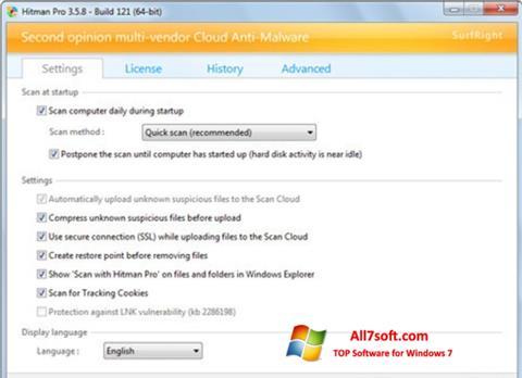 स्क्रीनशॉट HitmanPro Windows 7