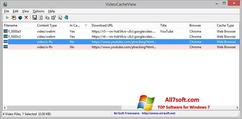 स्क्रीनशॉट VideoCacheView Windows 7