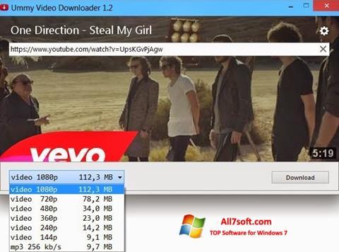 स्क्रीनशॉट Ummy Video Downloader Windows 7