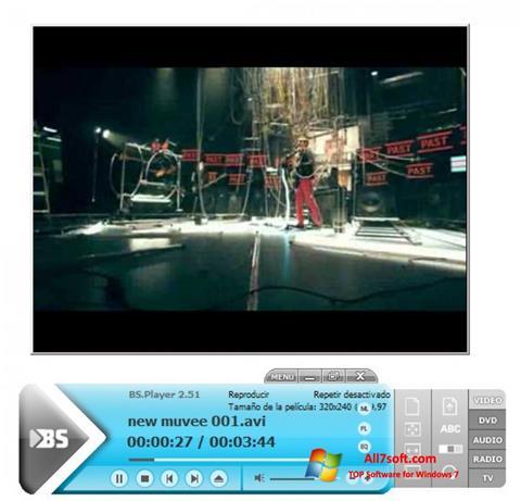 स्क्रीनशॉट BSPlayer Windows 7