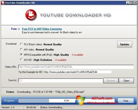 स्क्रीनशॉट Youtube Downloader HD Windows 7