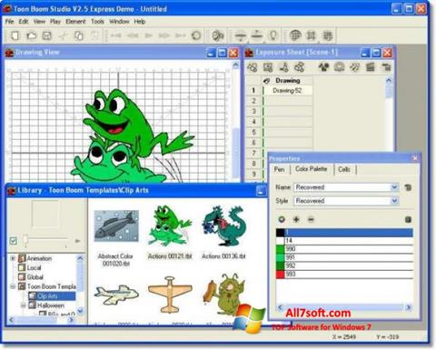 स्क्रीनशॉट Toon Boom Studio Windows 7