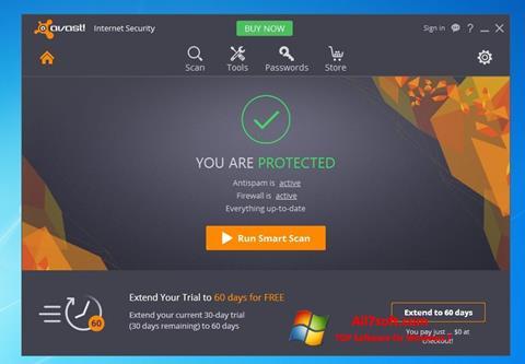 स्क्रीनशॉट Avast Internet Security Windows 7