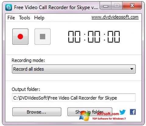 स्क्रीनशॉट Free Video Call Recorder for Skype Windows 7