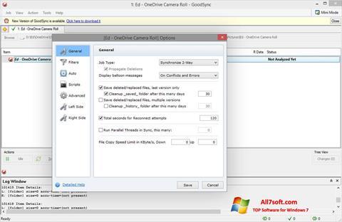 स्क्रीनशॉट GoodSync Windows 7