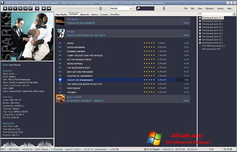 स्क्रीनशॉट Foobar2000 Windows 7