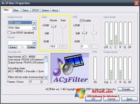 स्क्रीनशॉट AC3Filter Windows 7