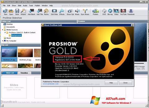 स्क्रीनशॉट ProShow Gold Windows 7