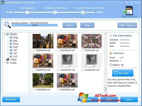 स्क्रीनशॉट CardRecovery Windows 7