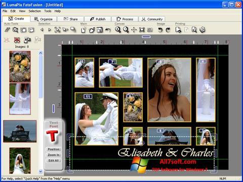स्क्रीनशॉट FotoFusion Windows 7