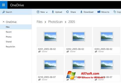 स्क्रीनशॉट OneDrive Windows 7