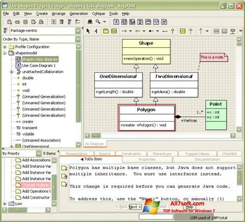 स्क्रीनशॉट ArgoUML Windows 7