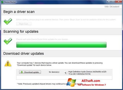 स्क्रीनशॉट Device Doctor Windows 7