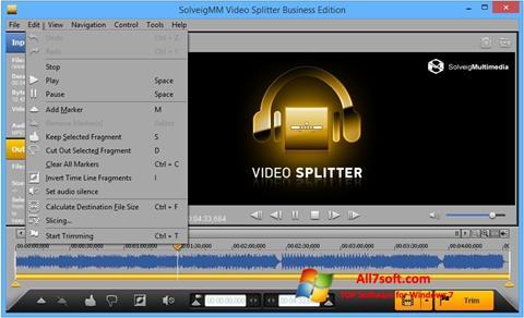 स्क्रीनशॉट SolveigMM Video Splitter Windows 7