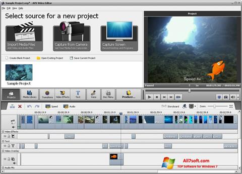 स्क्रीनशॉट AVS Video Editor Windows 7