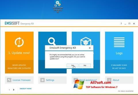 स्क्रीनशॉट Emsisoft Emergency Kit Windows 7