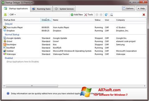 स्क्रीनशॉट Startup Delayer Windows 7