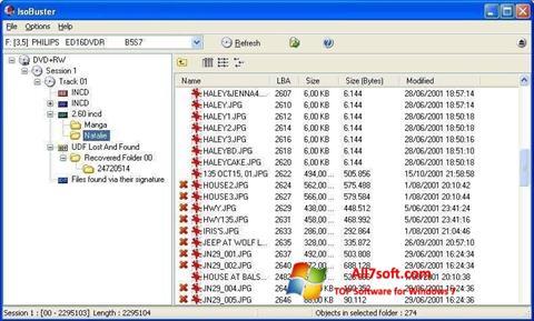 स्क्रीनशॉट IsoBuster Windows 7