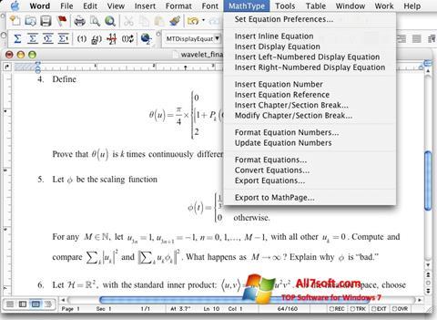 स्क्रीनशॉट MathType Windows 7