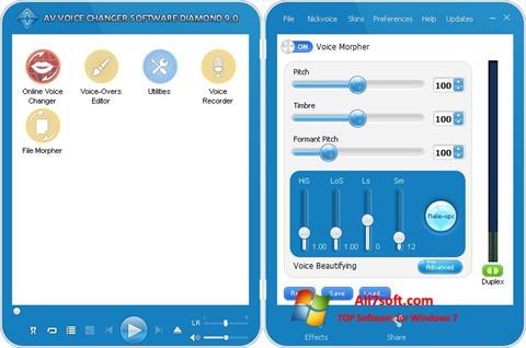 स्क्रीनशॉट AV Voice Changer Diamond Windows 7