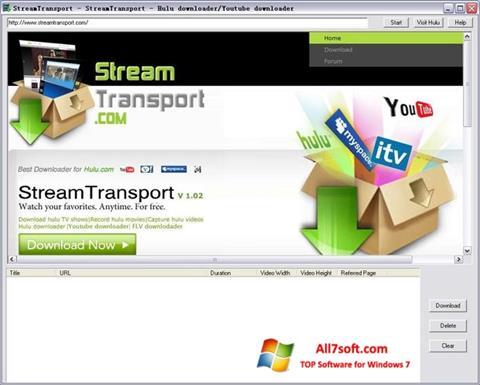 स्क्रीनशॉट StreamTransport Windows 7
