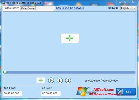 स्क्रीनशॉट Free Video Cutter Windows 7