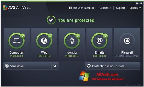स्क्रीनशॉट AVG AntiVirus Pro Windows 7