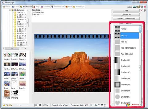स्क्रीनशॉट PhotoScape Windows 7