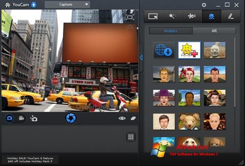 स्क्रीनशॉट CyberLink YouCam Windows 7