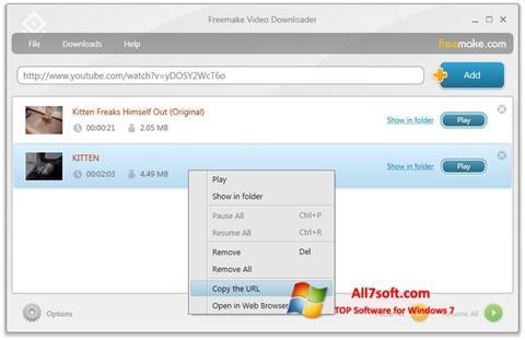 स्क्रीनशॉट Freemake Video Downloader Windows 7